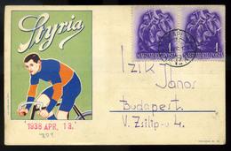Styria Kerékpár , Reklám Képeslap 1938.  /  Styria Bicycle Adv. Vintage Pic. P.card 1938 - Hungary