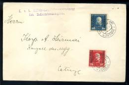 AUSZTRIA MONTENEGRO 1917. Levél Feldpost Bélyegekkel  /  1917 Letter Field Post Stamps - Used Stamps