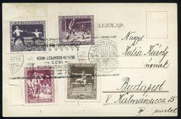 BUDAPEST 1925. Margitsziget, Nemzetközi Regatta Alkalmi Bélyegzésű Képeslap, Sport Bélyegekkel SCOUT SPORT - Hungary