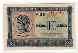 GREECE,10 DRACHMAI,1940,P.314,XF - Greece