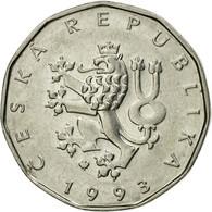 Monnaie, République Tchèque, 2 Koruny, 1993, TTB, Nickel Plated Steel, KM:9 - Tchéquie