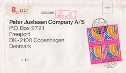 China. Recomended Letter Send To Denmark From Thai Ambassy In Beijen 1985 - 1949 - ... Repubblica Popolare
