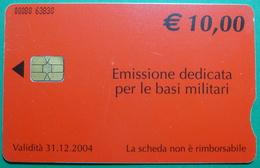 KFOR Kosovo Italian Army In Kosovo CHIP Phonecard, 10 Euro. Operator TELECOM ITALIA, **, RARE - Kosovo