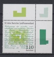 Bund 1988 Eckrand Rechts Oben Deutscher Landfrauenverband 110 Pf Postfrisch - BRD
