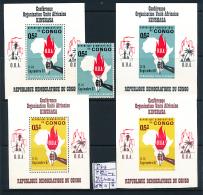 CONGO KINSHASA COB 651 + BL 21 + IMPERFORATED + LUXE SHEET 651A/B MNH - Democratic Republic Of Congo (1964-71)