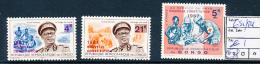 CONGO KINSHASA  COB 652/54 MNH - República Democrática Del Congo (1964-71)
