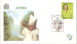 Zambia & FDC Visit Of His Holiness Pope John Paul II, Lusaka 1989 (5688) - Pausen