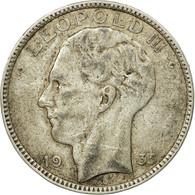 Monnaie, Belgique, 20 Francs, 20 Frank, 1935, TB+, Argent, KM:105 - 1934-1945: Leopold III