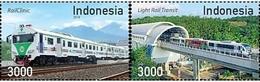 Indonesia 2018 - Trains / Railroads/ Locomotives (Stamp Set) - Indonesien