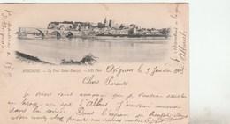 SEMEUSE 10C SUR CPA PRECURSEUR PONT ST BENEZET AVIGNON 9/1/05 CAD FACTEUR BOITIER D ARRIVE LEZAN GARD - Postmark Collection (Covers)