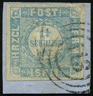 SCHLESWIG-HOLSTEIN 6 BrfStk, 113 (ALTONA) Auf 11/4 S. Grauultramarin, Prachtbriefstück - Schleswig-Holstein