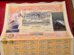 COMPAGNIE  Des  CLARIDGES   HÔTELS  -------Action  De  100 Frs - Tourism