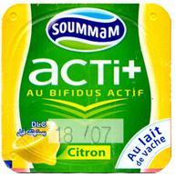 "Opercule Cover Yaourt Yogurt "" Soummam "" Acti + Citron Lemon Cow's Milk Yoghurt Yoghourt Yahourt Yogourt - Opercules De Lait"