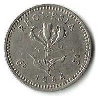 Lot 1 Pièces De Monnaie   5 Cents 1964 - Rhodésie
