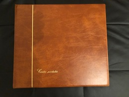 ALBUM LUXE SAFE AVEC ETUI - CONTENANCE 240 CARTES POSTALES ANCIENNES - PAGES NOIRES - EXCELLENT ETAT - Matériel