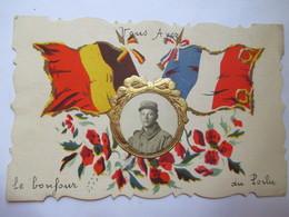 """CPA """" Vous Avez Le Bonjour Du Poilu """" - Carte à Système Avec Photo Du Soldat Expéditeur De La CP / N° 51 Sur Col  - TBE - Guerre 1914-18"""