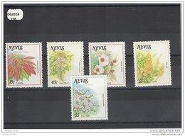 NEVIS 1988 - YT N° 500/504 NEUF SANS CHARNIERE ** (MNH) GOMME D'ORIGINE LUXE - St.Kitts E Nevis ( 1983-...)