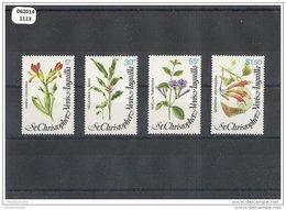 SAINT KITTS 1979 - YT N° 404/407 NEUF SANS CHARNIERE ** (MNH) GOMME D'ORIGINE LUXE - St.Kitts-et-Nevis ( 1983-...)