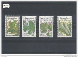 SAINT VINCENT 1989 - YT N° 589J/589M NEUF SANS CHARNIERE ** (MNH) GOMME D'ORIGINE LUXE - St.Vincent & Grenadines