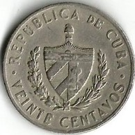 Lot 1 Pièce De Monnaie   20 Centavos  1962 - Cuba