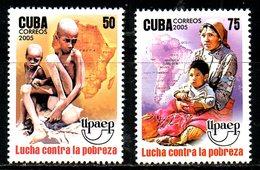 CUBA. N°4279-80 De 2005. UPAEP/Lutte Contre La Pauvreté. - Contro La Fame