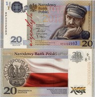 POLAND       20 Zlotych       Comm.     P-New       13.2.2018      UNC - Polonia