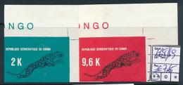 CONGO KINSHASA COB 668/69 IMPERFORATED MNH - République Démocratique Du Congo (1964-71)