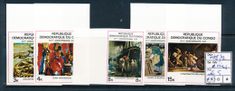 CONGO KINSHASA COB 708/12 IMPERFORATED MNH - République Démocratique Du Congo (1964-71)