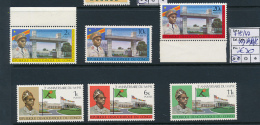 CONGO KINSHASA COB 745/47 + 747A/B/C MNH - République Démocratique Du Congo (1964-71)