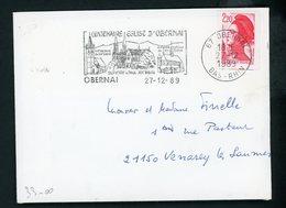 FRANCE - 2,20 ROUGE LIBERTÉ N° Yt 2427 GRAND FORMAT SUR LETTRE DU 27/12/89 - Abarten Und Kuriositäten