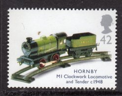 GREAT BRITAIN GB - 2003 HORNBY TRAIN CLOCKWORK LOCOMOTIVE TOY 42p STAMP FINE MNH ** - Unused Stamps
