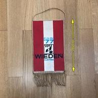 Flag (Pennant / Banderín) ZA000043 - Hockey Austria Wien (Vienna) World Championship 1977 - Apparel, Souvenirs & Other