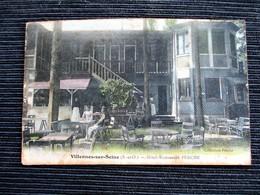 VILLENNES Sur SEINE Hotel Restaurant PERCHE (collection Perche) Terrasse Animée - Villennes-sur-Seine