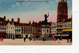 Dunkerque La Place Jean Bart ( Beffroi, Banque Société Générale En Travaux Et Banque Industrielle ... - Dunkerque