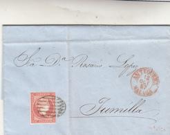 Antequera To Jumilla, Cover 1857 - 1850-68 Regno: Isabella II