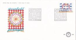 Nederland - FDC - Sterrenbeelden - Astrologie/12 Tekens Van De Dierenriem En Verjaardagstaart- NVPH E338 - Astrologie