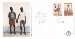 Nederland - FDC - 50 Jaar UNICEF - Schoolkinderen Uit Ghana/Ghanees Meisje - NVPH E354 - UNICEF