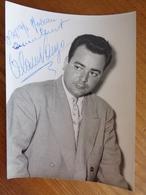 PHOTO AVEC DEDICACE DE ALAIN VANZO - Autographs