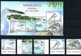 Bloc Sheet Oiseaux  Birds Herons  Neuf  MNH **  Vanuatu 2007 - Vanuatu (1980-...)