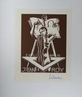 Ex-libris Illustré XXème - Belgique - Jean ROY Par Tilmans - Ex-libris