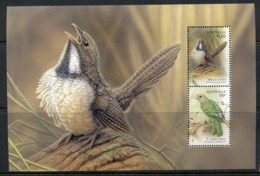 Australia 2009 Songbirds, Noisy Scrub-bird & Green Catbird Prestige Booklet Pane MUH - Nuovi