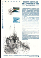 2017, DOCUMENT OFFICIEL DE LA POSTE: Societe Nationale De Sauvetage En Mer, 50e Anniversaire - Documentos Del Correo