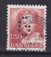 Denmark Perfin Perforé Lochung (G01) 'G' Gentofte Kommune, Charlottenlund (Mi. 777) Margrethe II. Stamp (2 Scans) - Abarten Und Kuriositäten