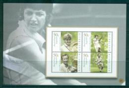 Australia 2010 #41 Australian Legends Tennis Booklet Pane MUH Lot34641 - 2010-... Elizabeth II