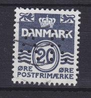 Denmark Perfin Perforé Lochung (A32) 'AK' Aalborg Kommune, Aalborg 20 Øre Wellenlinien (2 Scans) - Abarten Und Kuriositäten
