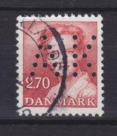 Denmark Perfin Perforé Lochung (A32) 'AK' Aalborg Kommune, Aalborg 2.70 Kr Margethe II Stamp (2 Scans) - Abarten Und Kuriositäten