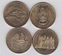 4 Médailles 2014 -heurtoir - Citadelle Belfort- N.d. Du Port Clermont -hauterives - Monnaie De Paris