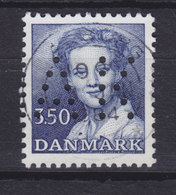 Denmark Perfin Perforé Lochung (A32) 'AK' Aalborg Kommune, Aalborg 3.50 Kr Margethe II Stamp (2 Scans) - Abarten Und Kuriositäten