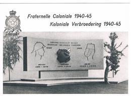 CPSM : Projet De Mémorial Aux Troupes Coloniales Belges Sculpteur KREITZ , Guerre 1940-1945 - Schaerbeek - War Memorials