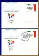 ITALIA - Cartolina Intero Postale - 1998 - GIOCHI OLIMPICI INVERNALI A NAGANO - 6. 1946-.. Repubblica